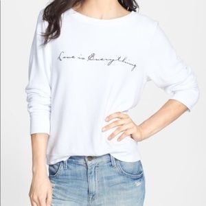 WILDFOX Love Is Everything White Sweater